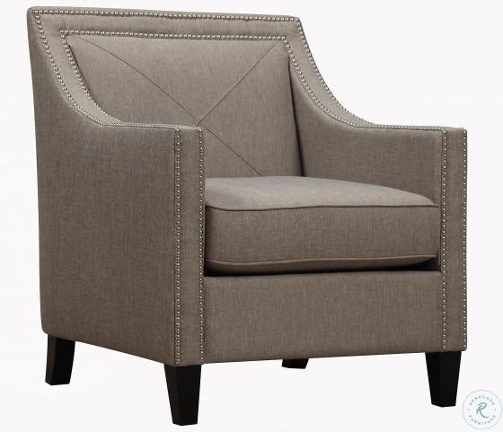 Asheville Light Grey Linen Chair