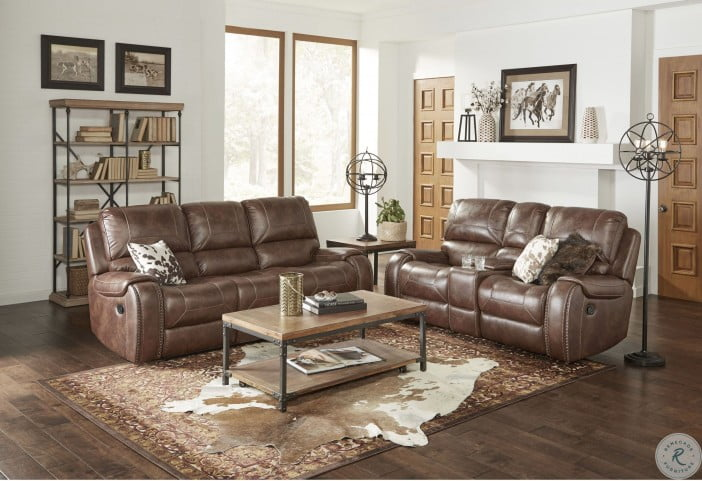 Brilliant Waylon Mesquite Brown Reclining Sofa With Drop Down Table Gmtry Best Dining Table And Chair Ideas Images Gmtryco