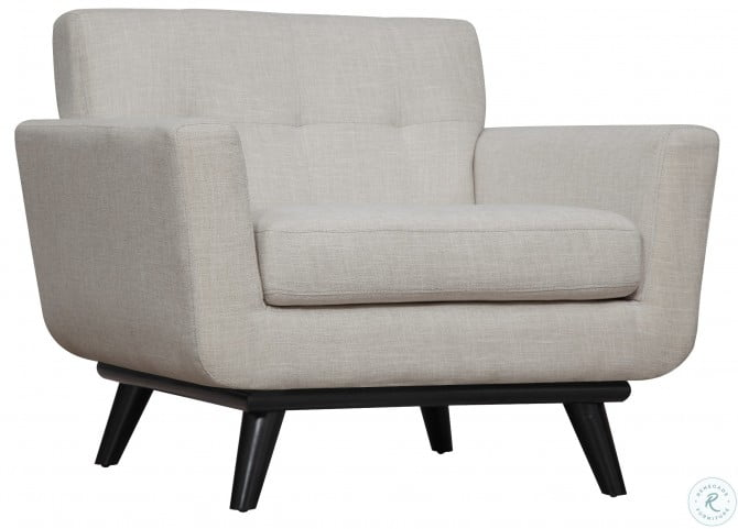 James Beige Linen Chair