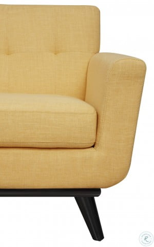 James Mustard Yellow Linen Chair