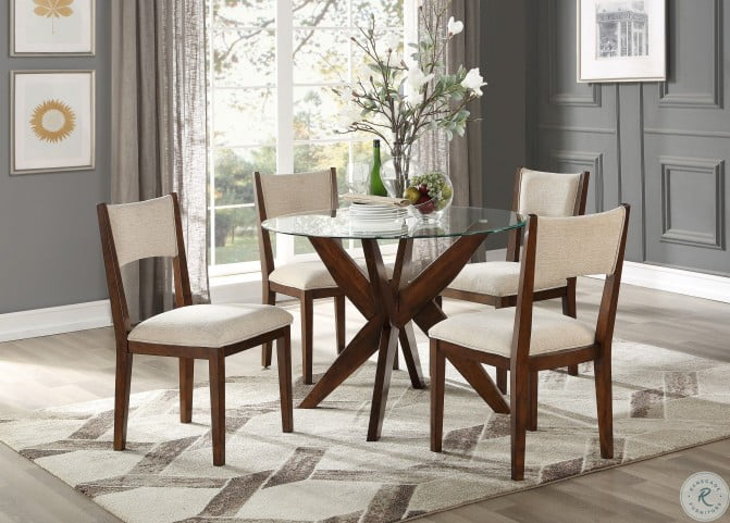 Massey Espresso Round Dining Room Set
