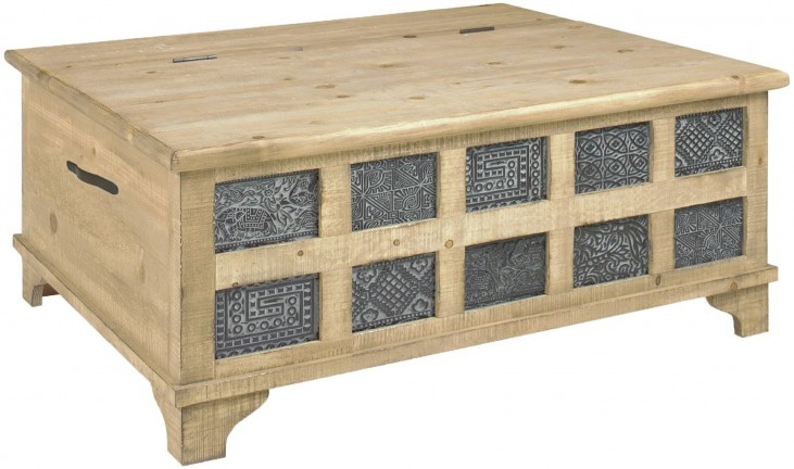 Caymus Natural Reclaimed Storage Cocktail Trunk