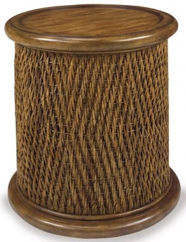 Turk Tea Round Woven Drum Table