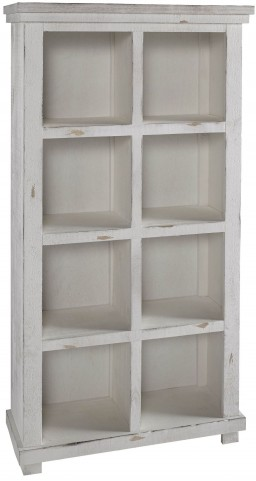"Willow 64"" White Bookcase"