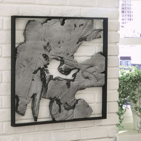 Fabiana Black and Silver Wall Decor