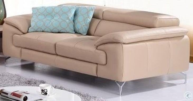 A973 Peanut Italian Leather Sofa from J&M (179061113-S) | Coleman ...