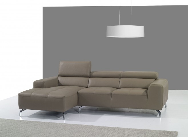 A978B Burlywood Italian Leather LAF Chaise Sectional