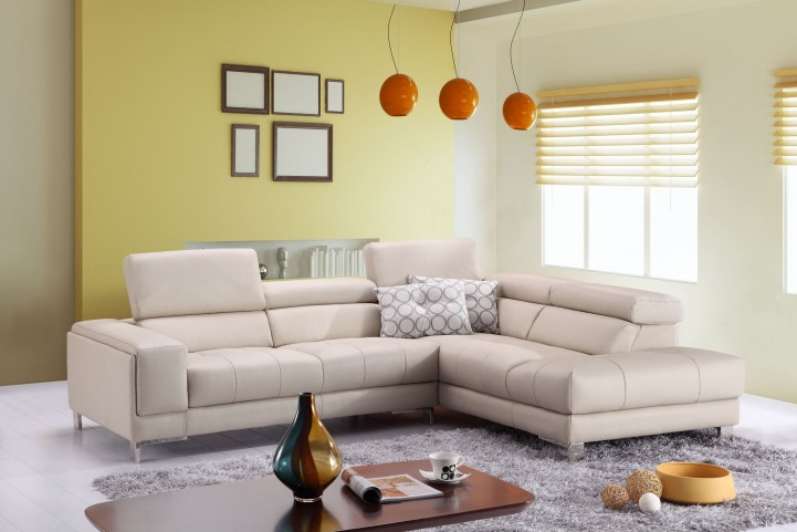 A990 Italian Leather RAF Chaise Sectional