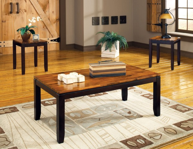 Abaco Two-Tone 3 Piece Occasional Table Set