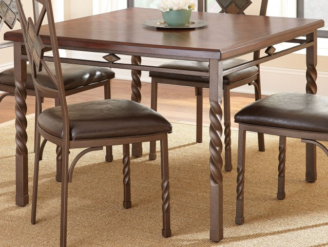 Annabella Medium Oak Square Dining Table