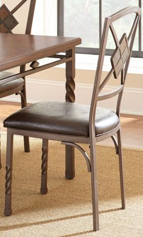 Annabella Dark Brown Side Chair Set of 4