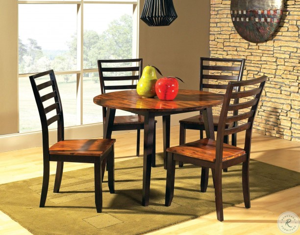 Abaco Cordovan Cherry Round Double Drop Leaf Dining Table From Steve Silver Ab4242t Coleman Furniture