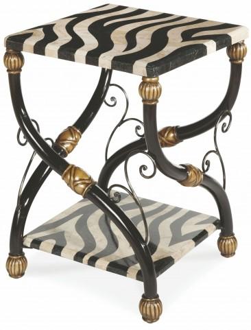 Cairo Zebra Accent Table