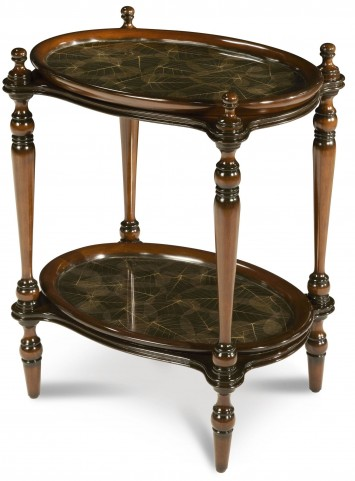 Manchester Rubber Leaf Accent Tray Table