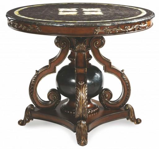 ACF-ENT-CHLE - Blackstone Ball Lobby Table with Black lip Trim