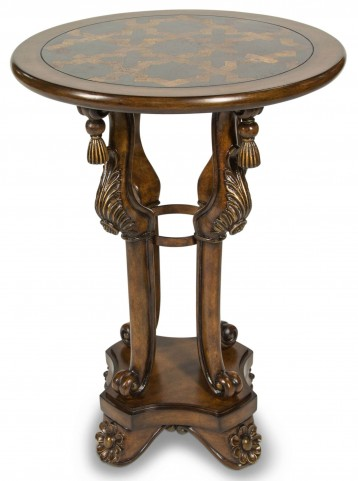 Discoveries Blackstone Inlay Top Accent Table