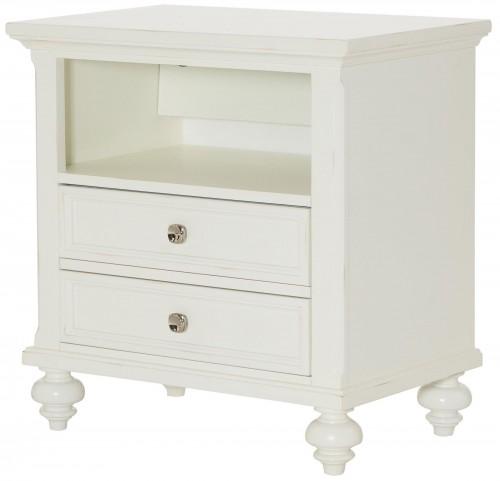 Lynn Haven Soft Dover White Drawer Nightstand