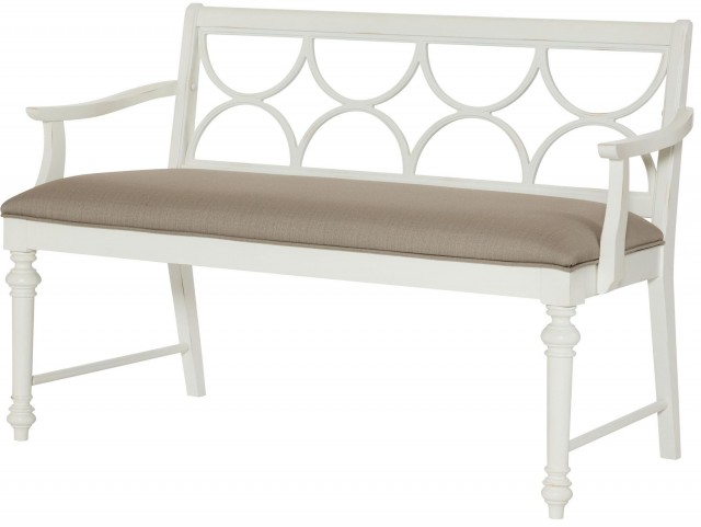 Lynn Haven Soft Dover White Dining Bench