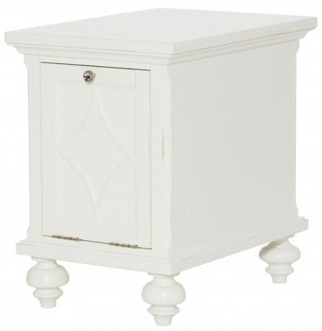 Lynn Haven Soft Dover White Chairside Table