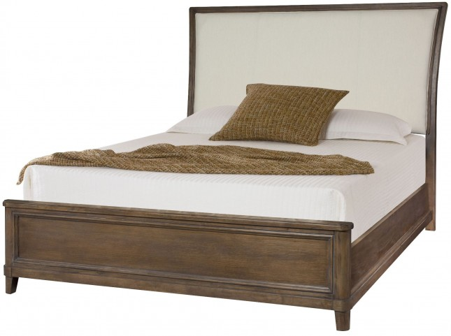 Park Studio Weathered Taupe King Upholstered Sleigh Bed