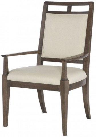 Park Studio Weathered Taupe Wood Back Arm Chair