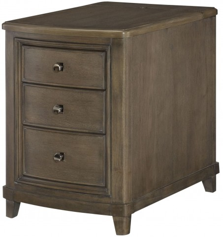 Park Studio Weathered Taupe Chairside Table