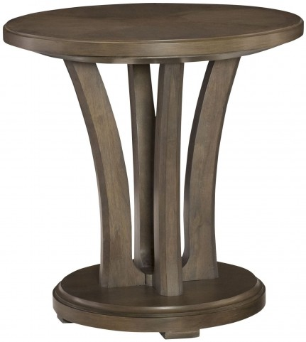 Park Studio Weathered Taupe Round Lamp Table