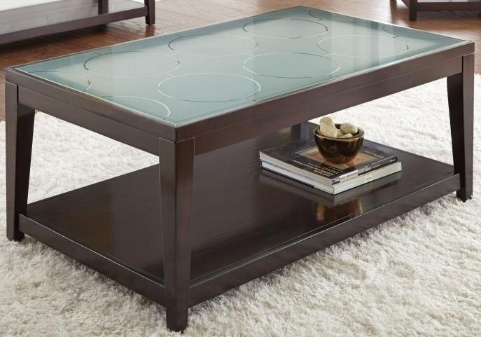 Arden Sandblasted Glass Cocktail Table