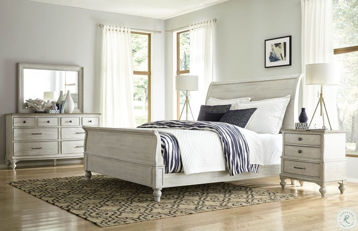Litchfield Sun Washed Hanover Queen Sleigh Bed