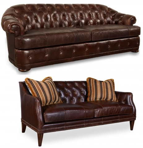 Kennedy Walnut Chesterfield Living Room Set