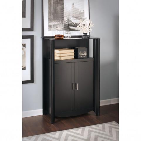 Aero Classic Black 2-Door Medium Library Storage