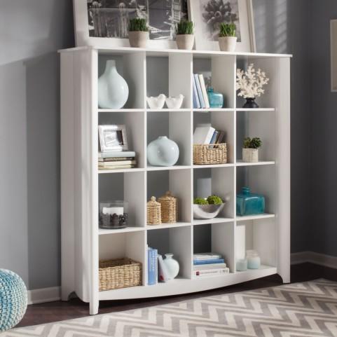 Aero White 16-cube Bookcase / Room Divider