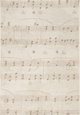 Alpha Sheet Music Flatweave Small Rug