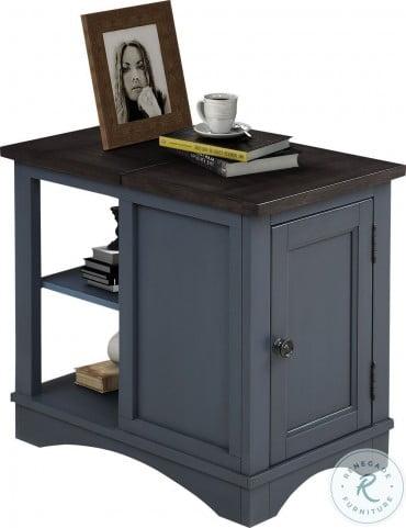 Americana Modern Denim Chairside End Table