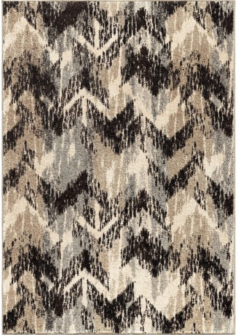 American Heritage Plush Pile Chevron Distressed Chevron Gray Large Area Rug