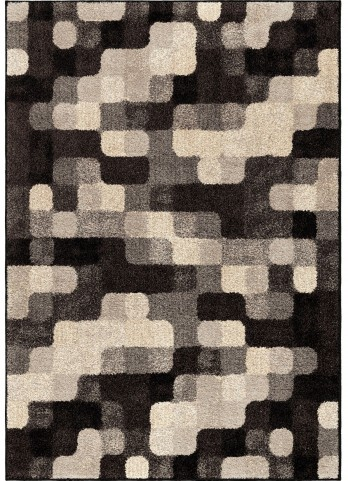 American Heritage Geometric Halo Blocks Gray Small Area Rug