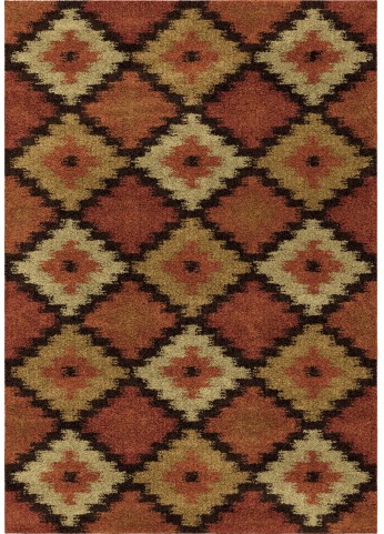 Orian Rugs Southwest Southwest Aztec Panel Multi Area Small Rug