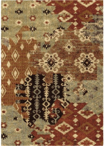 American Heritage Southwest Kilim Patches Multi Small Area Rug
