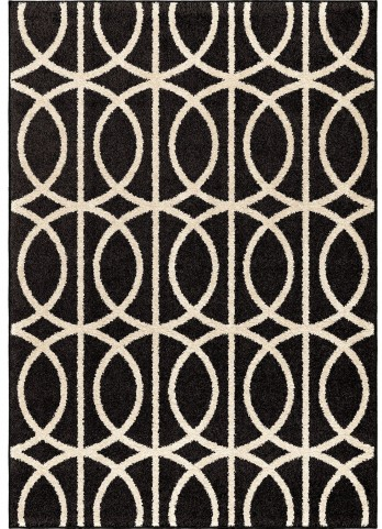 Orian Rugs Circles Circles Novak Black Area Large Rug