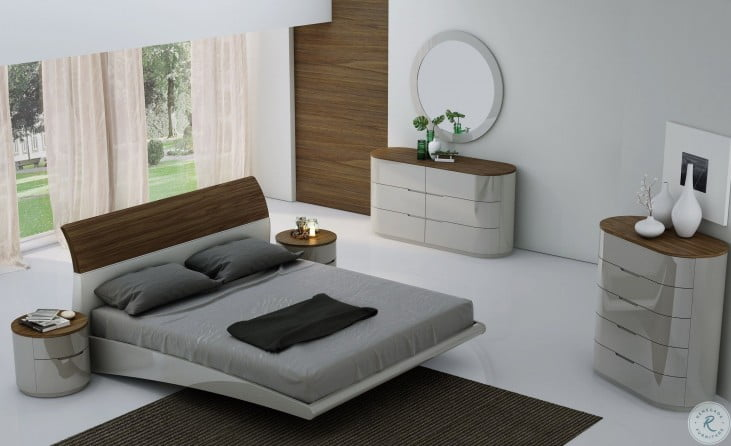 Outstanding Amsterdam Walnut Platform Bedroom Set Download Free Architecture Designs Jebrpmadebymaigaardcom