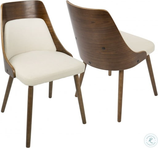 Excellent Anabelle Walnut And Cream Dining Chair Lamtechconsult Wood Chair Design Ideas Lamtechconsultcom