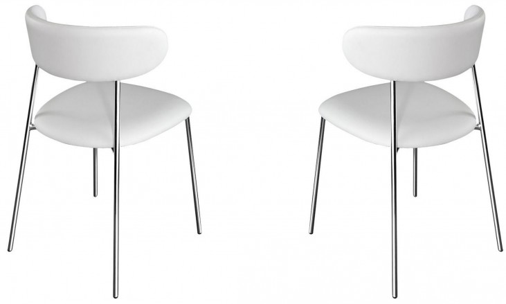 Anais Skill White Lacquered Steel Chair Set of 2