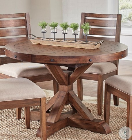 Anacortes Mahogany 62 Extendable Oval Pedestal Dining Table From A America Coleman Furniture