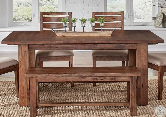 Anacortes Mahogany 105 Extendable Rectangular Trestle Dining Table From A America Coleman Furniture