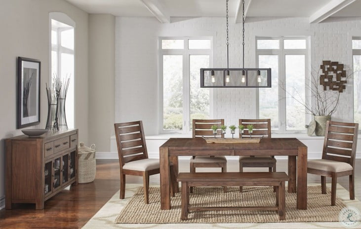 Anacortes Mahogany 90 Extendable Rectangular Leg Dining Room Set From A America Coleman Furniture