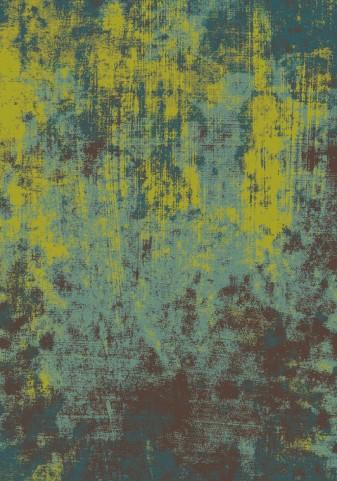 """Antika Green Blue Acid Wash 67"""" Floor Cloth Rug"""