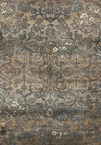 "Antika Intricate Flowers 79"" Floor Cloth Rug"