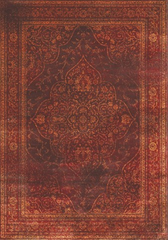 "Antika Red Old World 79"" Floor Cloth Rug"
