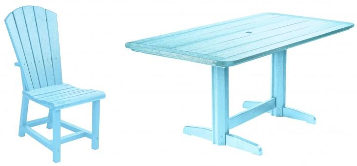 """Generations Aqua 36"""" Double Pedestal Dining Room Set"""