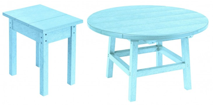 "Generations Aqua 32"" Round Occasional Table Set"